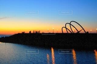 りんくう公園の夕景の写真・画像素材[4094408]