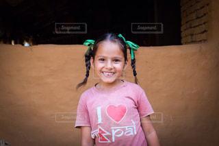 海外,スマイル,アジア,女の子,少女,笑顔,目,ネパール