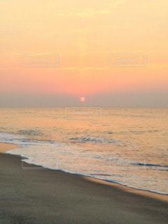 自然,風景,海,空,太陽,砂,砂浜,水面,海岸,光,日の出