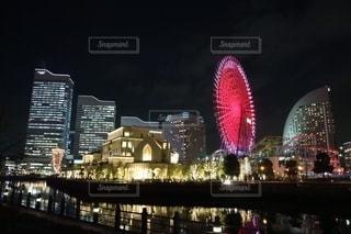 夜の横浜の写真・画像素材[2754617]