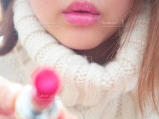 ピンクのリップの写真・画像素材[2875219]