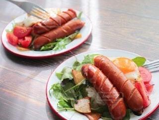おうちごはん,食事,朝食,テーブル,ワンプレート,料理,おうちカフェ,Snapmart,ソーセージ,ジューシー,カフェ飯,PR,ジョンソンヴィル