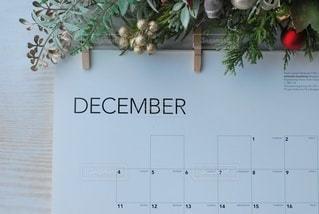 壁にぶら下がっているカレンダーの写真・画像素材[3020276]