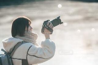 真冬の装いの写真・画像素材[4167681]