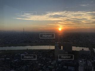 自然,空,建物,夕日,太陽,雲,夕暮れ,川,光,タワー,高層ビル,江戸川,インスタ映え