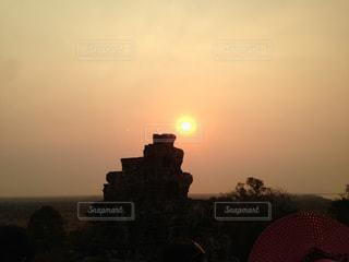 空,夕日,絶景,太陽,夕暮れ,光,旅行,旅,日の出,カンボジア,インスタ映え
