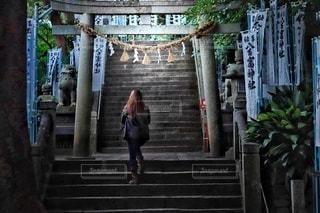 神様に会う階段の写真・画像素材[2755421]
