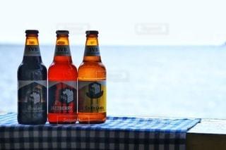 海辺の休日ビールの写真・画像素材[2815120]