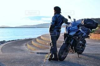 バイクで一人旅の写真・画像素材[2822059]