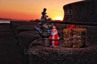 海辺でメリークリスマスの写真・画像素材[2826020]