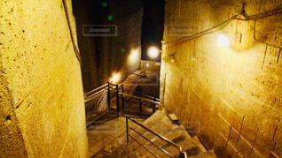 地下への石の階段の写真・画像素材[2764021]