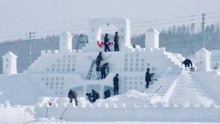 雪像造りの写真・画像素材[2811883]