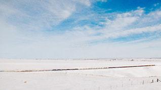 貨物列車と雪の写真・画像素材[2811926]