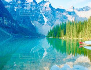 一面山の湖の写真・画像素材[2835195]