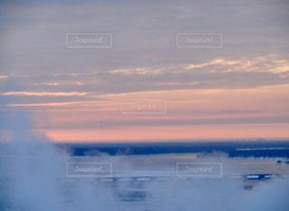 風景,空,屋外,太陽,雲,夕暮れ,水面,霧,光,クラウド