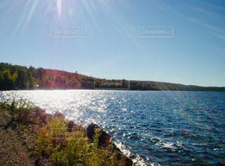 自然,風景,空,屋外,湖,太陽,ビーチ,水面,光,日中