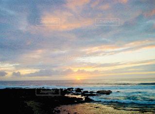 自然,風景,海,空,屋外,太陽,ビーチ,雲,砂浜,夕暮れ,水面,海岸,光