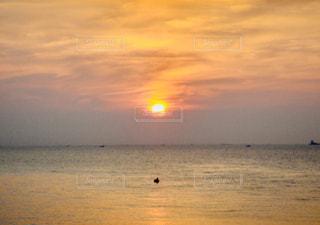 自然,風景,海,空,屋外,太陽,舟,ビーチ,水面,光,日の出