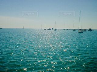 空,屋外,湖,太陽,ボート,船,水面,光,ヨット,日中