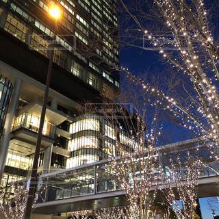 空,建物,冬,夜,屋外,大阪,イルミネーション,都会,ライトアップ,高層ビル,買い物,梅田,ショッピング,グランフロント大阪,シャンパンゴールド