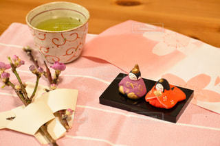 和菓子とお雛様の写真・画像素材[2994701]