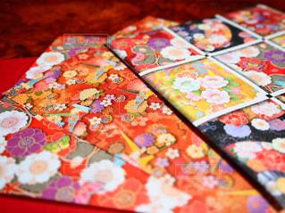 華やかな友禅折り紙の写真・画像素材[3125961]