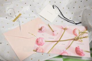 誕生日プレゼントの添え物の写真・画像素材[3153672]