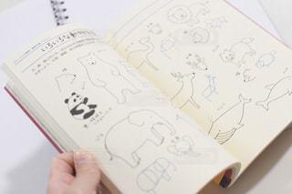 動物,本,ペン,デザイン,練習,手書き,紙,おえかき,スケッチ,見本,おうち時間,書き方