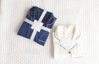 白い毛布のクローズアップの写真・画像素材[3308570]
