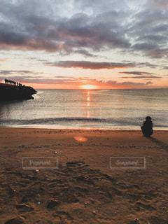 自然,海,空,屋外,太陽,ビーチ,砂浜,水面,海岸,光,日の出,初日の出