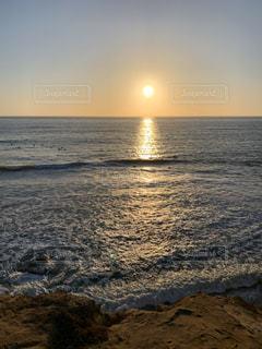 風景,海,空,太陽,波,水面,海岸,光