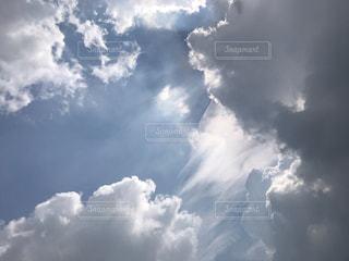 空,群衆,屋外,太陽,雲,光,高い