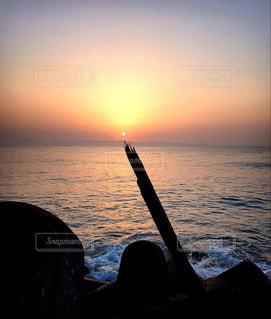 風景,海,空,太陽,ビーチ,水面,光