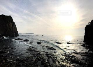 自然,風景,海,空,温泉,屋外,太陽,水面,光,岩,日中,勝浦,島々,那智,荒い