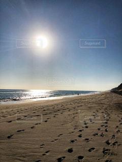 海,空,太陽,砂,ビーチ,砂浜,海岸,光,日中
