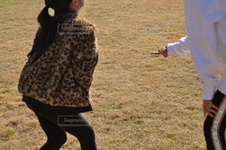 公園で凧をあげる姉妹の写真・画像素材[2939651]