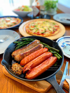 朝食,ランチ,美味しい,ソーセージ,贅沢,ブランチ,肉汁,ジョンソンヴィル