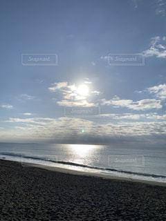 海,空,屋外,太陽,ビーチ,雲,砂浜,海岸,光,日中