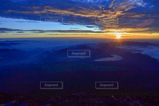 自然,風景,空,富士山,太陽,雲,山,光,山頂,日の出