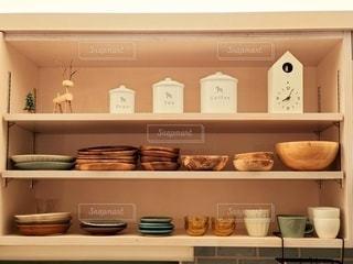 お気に入りの木の食器の写真・画像素材[2923965]