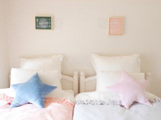 シングルベッドがふたつの写真・画像素材[2947877]