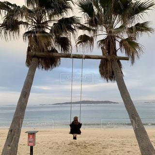 綺麗な砂浜と海を眺めながらの写真・画像素材[2804699]