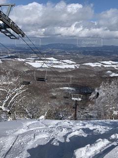 風景,アウトドア,空,スポーツ,雪,屋外,山,人物,スキー,ゲレンデ,レジャー,斜面,眺め,山腹