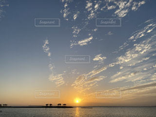 自然,空,太陽,夕暮れ,海岸,沖縄,旅