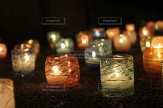 琉球ガラスキャンドルの写真・画像素材[2808004]