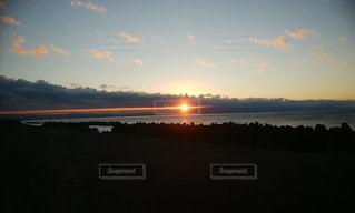 風景,空,太陽,ビーチ,雲,水面,海岸,光,元旦,日の出,初日の出