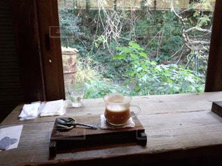 木製のテーブルの写真・画像素材[2940633]