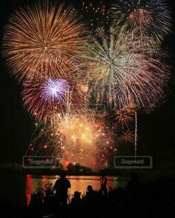 ありがとう花火の写真・画像素材[3619137]