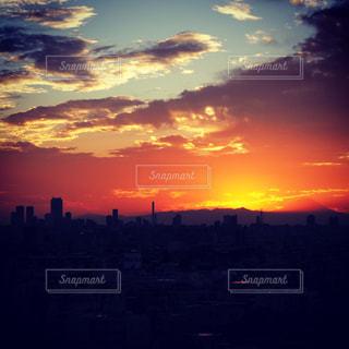 風景,空,太陽,夕暮れ,光
