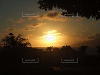 家族,自然,風景,空,屋外,海外,太陽,雲,夕暮れ,光,樹木,旅行,ハワイ,日の出,クラウド,マウイ島,設定